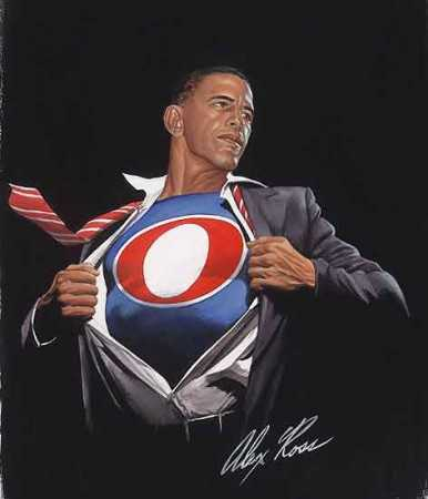 Barack Obama super hero