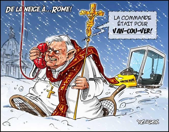 neige, rome