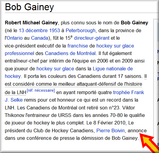 démission de Bob Gainey