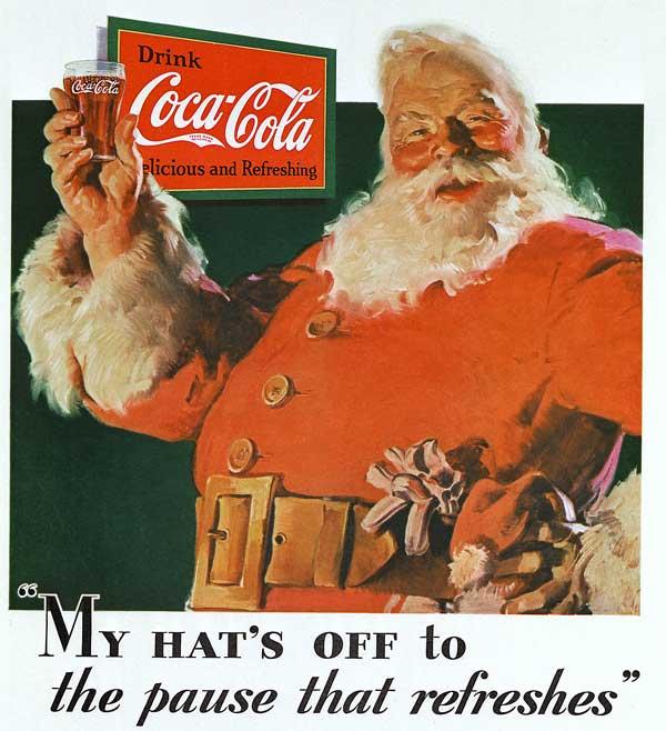 publicite père noël coca-cola 1931