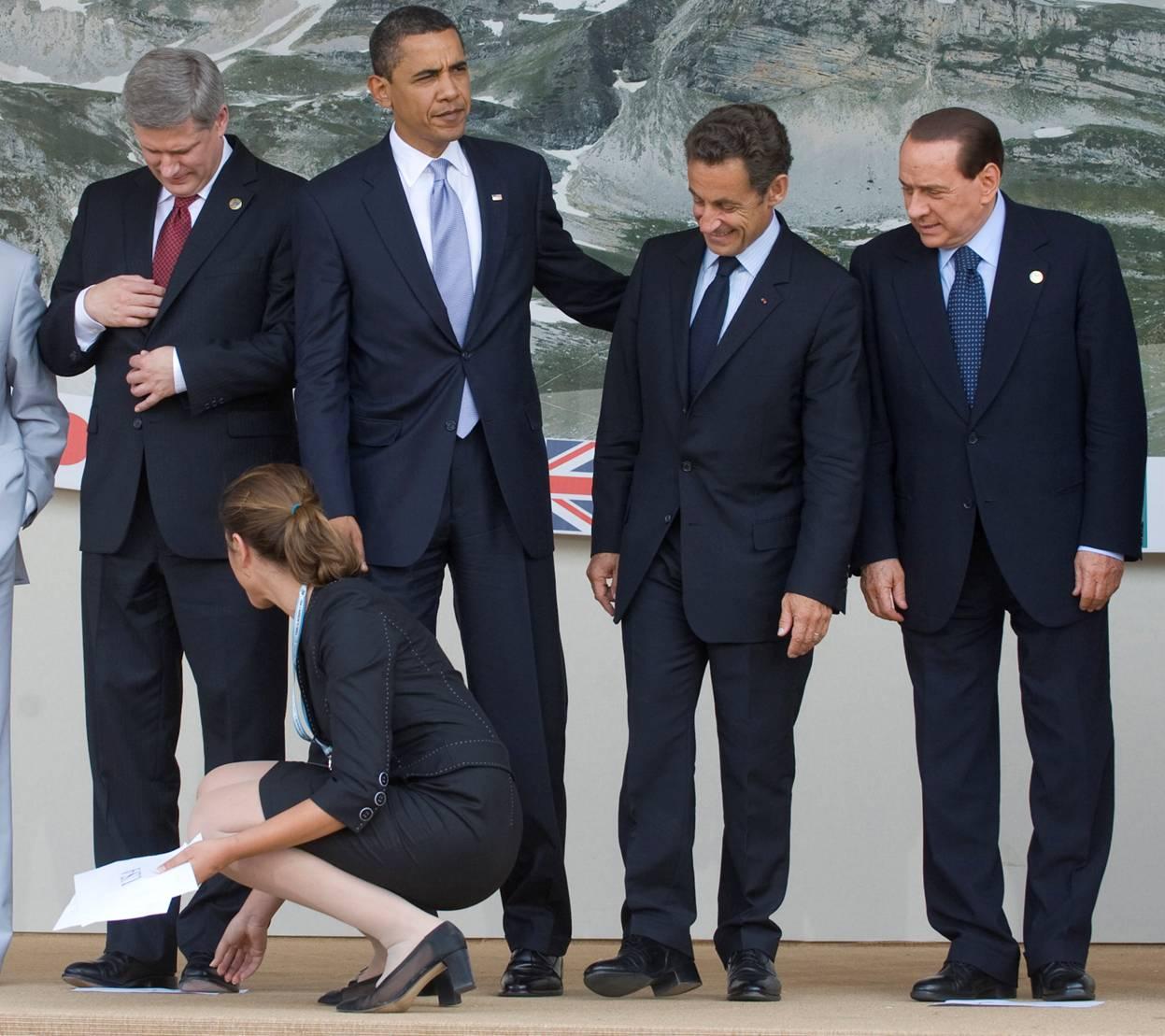 Berlusconi Harper Obama Sarcozy