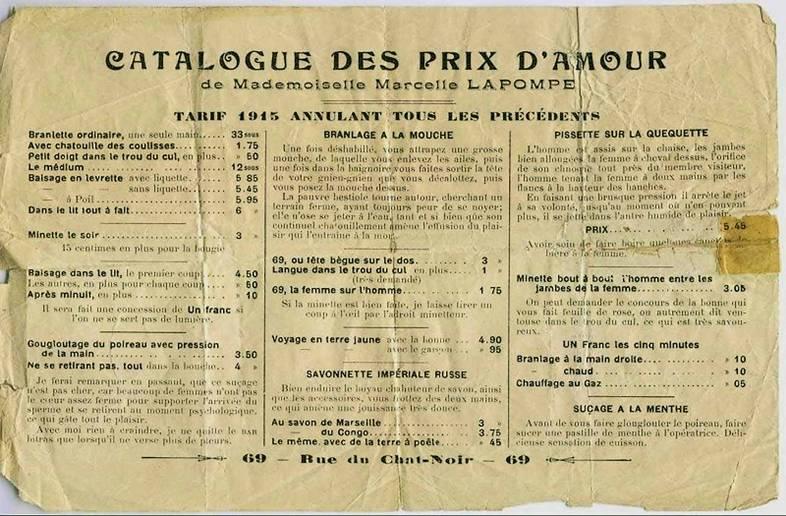 Prix de bordel 1915