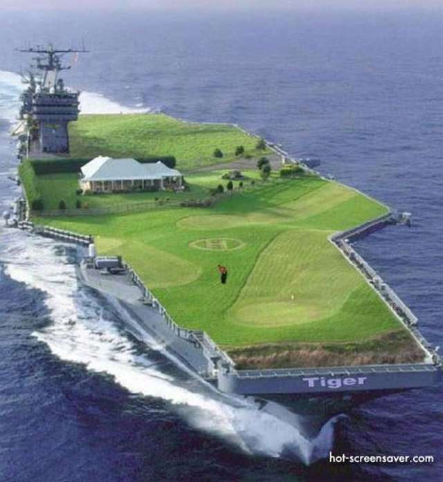 Tiger Woods porte-avion